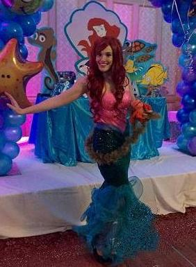 Princess Bridgette is a classically trained opera singer, actress, and musical theater stage entertainer, liovely Little Mermaid performer for children's birthday parties