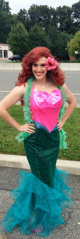 Princess Bridgette is a professional classically trained singer who performs as the storybook LIttle Mermaid character for birthday girl parties