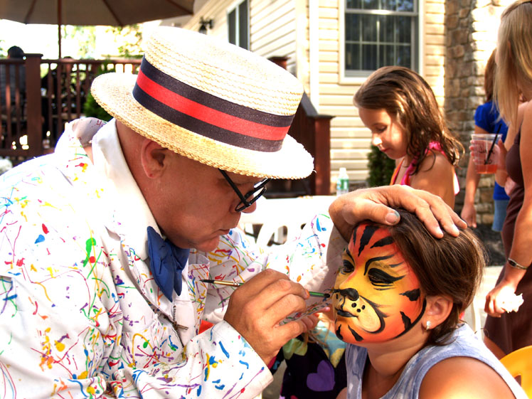 Face Painter NJ- face painting for any occasion, face art, hand and cheek art, tattoos, NJ Face Painting for holiday events   (click on photo for more face painting samples)