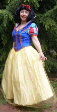 Princess Debra poses as snow white storybook character, professional experienced children's entertainer, magic show, interactive games, treasure hunt, storytime, singing, dancing, pose for photos, souvenir sparkly tiara for birthday girl, animal balloon twists, optional glamour makeup, tattoos, and face painting