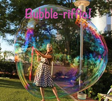 Soap Bubbles Maker entertainer for children's birthday parties in New Jersey, bubbles in all sizes, amazing large bubbles to stand inside