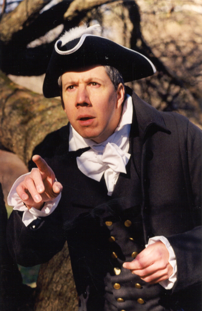 "Ichabod Crane- professional stage performer and storyteller, performs dramatic presentation of ""The Legend of Sleepy Hollow"", dressed in authentic period costume, animates the famous horror story"
