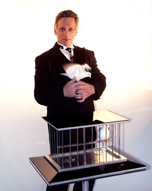 Traditional Magician for all ages, live appearing doves, illusions, comedy, audience participation, and balloon art
