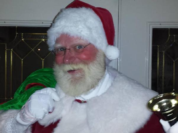 Santa John is a real bearded Santa impersonator for holiday parties in new Jersey, show includes charming musical entrance with sleigh bells, he delivers your gifts in his velvet Santa bag, reindeer puppet, mini candy canes, lead Xmas carols, read Christmas story