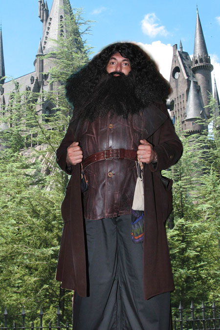 Hagrid Stilt Walker and Variety Entertainer Magician, great for Harry Potter the,e birthday parties, kid's shows, strolling festivals, corporate events, Sweet 16 parties, graduation party, feautres professional stage actor and impersonator, Hagrid character NJ