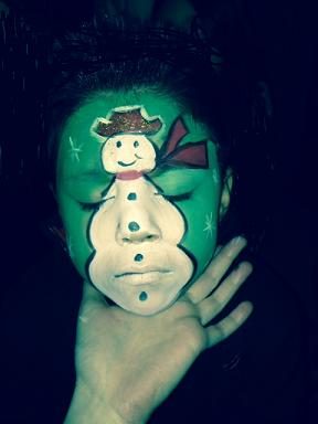Frozen Ice princess themem face painting for frozzen theme birthday parties, olaf snow man