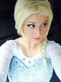 Ice Princess Julie poses as the frozen Ice Queen for kids birthday parties in New Jersey