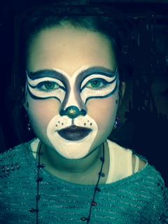 Professional holiday themem face painting, Face Painter Artist, full reindeer face painting