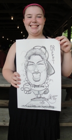 Mark- professional artist and illustrator draws carton caricatures of your party guests, patrons, and employees at private parties and corporate events