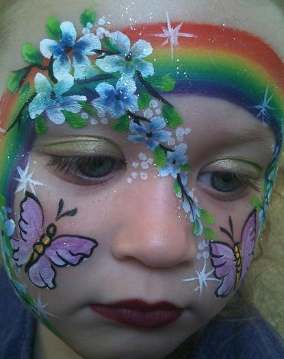 Award-winning professional Face Painter, NJ Face Painter, face painting for children's birthday parties, corporate events, festivals, summer camps, company picnics, holiday Face Painter Artist with fanciful glitter tattoos and holiday theme face painting for all ages, Easter theme face painting, Christmas theme face painting, etc