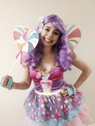 Adorable Candy Fairy character for your sweet treats theme birthday party