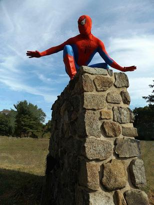 Spider Hero Adventure show- features professional children's entertainer, character actor, stage performer in amazing superhero costume with props and music, souvenirs, treausre hunt, magic show, stickers, and balloon art