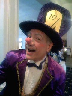 Traditional vintage Mad Hatter cartoon character for children's birthday parties and corporate events in NJ, Mad Hatter for Alice & WOnderland theme parties, professional magician, juggler, ventriloquist, variety entertainer for all ages