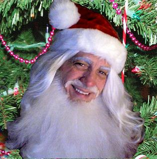 Santa Claus impersonator for children's Xmas parties, corporate events and Santa housecall visits, professional character actor formerly of Broadway and stage poses as Santa Claus, includes magical entertainment, singing, caroling, music, and delivery of your gifts or party favors
