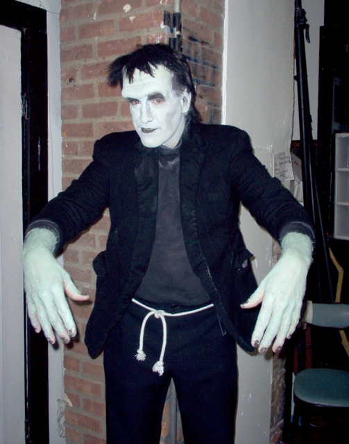 Frankenstein character actor for Halloween parties in New Jersey, NJ Halloween variety entertainer, freeze mime meet and greet at the door, comedy, magic, juggling, fire blowing, balloon sculptures