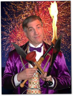 RJ- Top award-winning Magician, Juggler, comedy Variety Entertainer for all ages, specializes in Bar Mitzvahs, Batmitzvahs, Chanukah entertainer, Purim Party entertainer, juggles fire battle axes and swords, Hanukkah paryt entertainer grand finale lights menorah, NJ Juggler, comedy juggling show