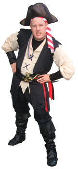 Pirate Rich- professional children's entertainer for pirte themed kid's birthday parties, show includes comedy , pirate magic, juggling, treasure maps, animal balloons and optional pirate tattoos and face painting