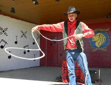 Cowboy Ron- professional stage performer formerly of Ringling Bros Barnum & Bailey and The Greatest Show on Earth Circus, cowboy charcter show includes, comedy cowboy theme magic show, juggling, lasso tricks, balancing act, and high-end balloon sculptures, Cowboy Magician NJ