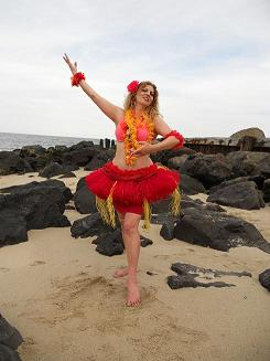 Sigal- professinal Hula Dancer performs for family luau parties and kid's hula shows in NJ