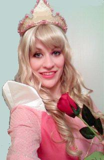 A Sleeping Beauty story book princess for kids birthday parties in New Jersey