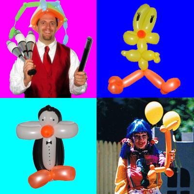 Balloon Artists, animal balloon twists, masterful balloon sculptures, for kids birthday parties NJ, corporate events, grand openings, any occasion, NJ Animal Balloon Artists   (click on photo for more balloon art samples)