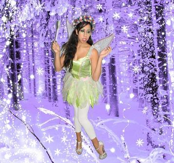 Enchanted magical Christmas Snow Fairy for family and chilren's Xmas partis in New Jersey