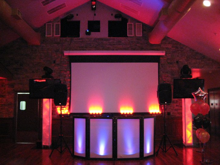 Our high-end DJ packages for wedding receptions, Sweet 16 parties, teeen dance parties, Bat Mitzvahs, Bar Mitzvahs, and corporate events can include large plasma screens for video slide shows, music video mixing, and karaoke