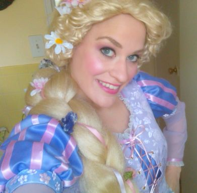 Storybook Princess Rapunzel show for kids birthday parties in New Jersey, puppet, singing , dancing, treasure hunt for royal tiara gift, magic, interactive games, stickers, animal balloons and optional glamour makeup, tattoos and face painting