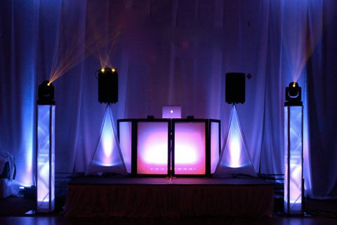 Special effects projection lighting for corporate events, wedding receptions, Sweet 16s, Bat Mitzvahs, Bar Mitzvahs